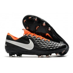 Botas de Fútbol Nike Tiempo Legend 8 Elite FG Negro Blanco Naranja
