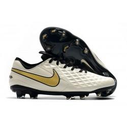Botas de Fútbol Nike Tiempo Legend 8 Elite FG Blanco Oro Negro