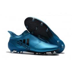 Nuevo Zapatillas de fútbol Adidas X 17+ Purespeed FG Azul Negro
