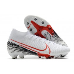 Nike Mercurial-Superfly VII Elite AG-PRO Blanco Rojo