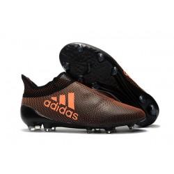 Botas de fútbol Adidas X 17+ Purespeed FG Para Hombre Naranja Negro