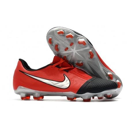 Tacón de Fútbol Nike Phantom Vnm Elite FG Láser Crimson Plata Negro