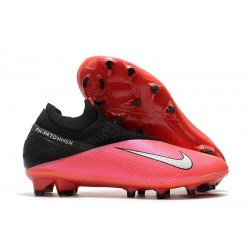 Nike Phantom Vision 2 Elite Dynamic Fit FG -Laser Crimson Plata Negro