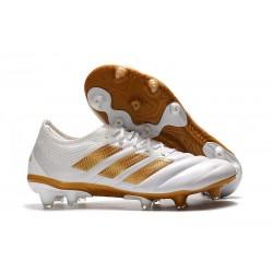 Zapatillas de fútbol Adidas Copa 19.1 FG Blanco Oro