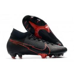 Nike Botas de Futbol Mercurial Superfly 7 Elite FG Negro Rosso
