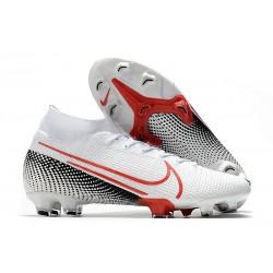 Nike Botas de Futbol Mercurial Superfly 7 Elite FG Blanco Carmesí láser Negro