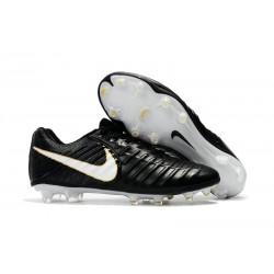 Zapatillas de Fútbol Nike Tiempo Legend VII FG Oro Blanco Negro