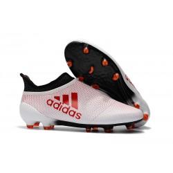 Botas de fútbol Adidas X 17+ Purespeed FG Para Hombre Blanco Rojo Negro