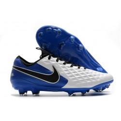 Nike Zapatilla Tiempo Legend VIII Elite FG Blanco Azul Negro