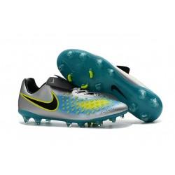 Botas de fútbol Nike Magista Opus II FG Para Hombre - Plateado Negro Naranja