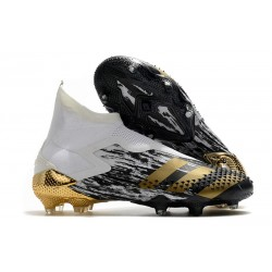 Zapatos adidas Predator Mutator 20+ FG Blanco Dorado metalizado Negro