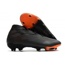 adidas Tacos de Futbol Nemeziz 19+ FG - Negro Naranja Señal