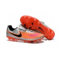 Botas de fútbol Nike Magista Opus II FG Para Hombre - Naranja Plateado Negro Rosado