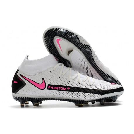 Botas de fútbol Nike Phantom GT Elite DF FG Blanco Rosa Negro
