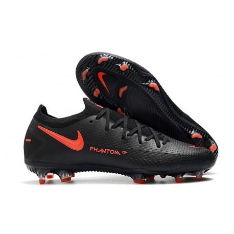 Zapatilla de Futbol Nike Phantom GT Elite FG Negro Rojo Chile Gris