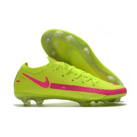 Zapatilla de Futbol Nike Phantom GT Elite FG Verde Rosa