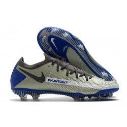Zapatilla de Futbol Nike Phantom GT Elite FG Gris Azul Negro
