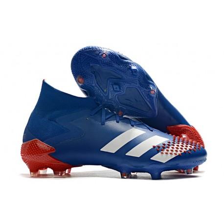 Zapatillas de Fútbol adidas Predator Mutator 20.1 FG Azul Blanco Rojo