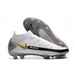 Botas de fútbol Nike Phantom GT Elite DF FG Blanco Negro Rojo Oro