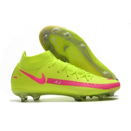 Nike Phantom GT Elite DF FG para Hombre Verde Rosa
