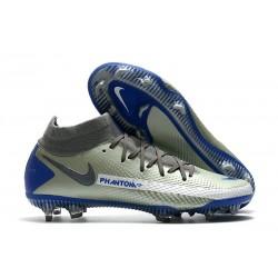 Botas de fútbol Nike Phantom GT Elite DF FG Gris Azul