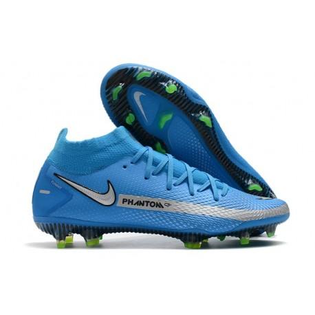 Nike Phantom GT Elite DF FG para Hombre Azul Plata