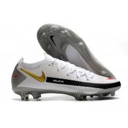 Nike Botas Nuevo Phantom GT Elite FG - Blanco Negro Oro