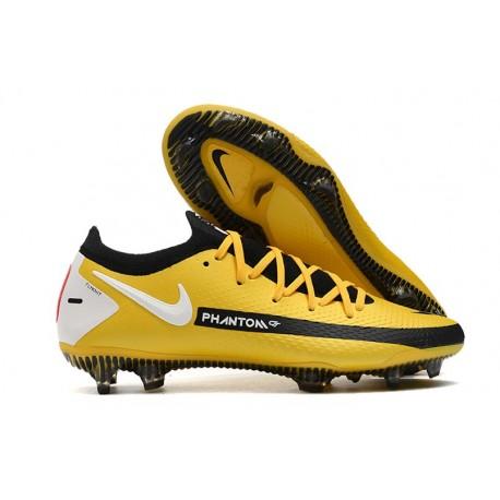 Zapatilla de Futbol Nike Phantom GT Elite FG Amarillo Negro Blanco