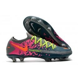 Zapatilla de Futbol Nike Phantom GT Elite FG Gris Azul Rosa