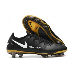 Zapatilla de Futbol Nike Phantom GT Elite Tech Craft FG Negro Oro Blanco
