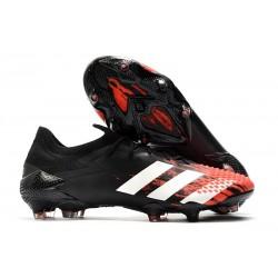 adidas Bota Predator Mutator 20.1 Low FG Negro Blanco Rojo