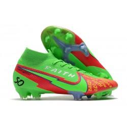 Nike Botas Mercurial Superfly 7 Elite FG Faith Verde Rojo