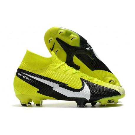 Nike Botas Mercurial Superfly 7 Elite FG Amarillo Negro Blanco