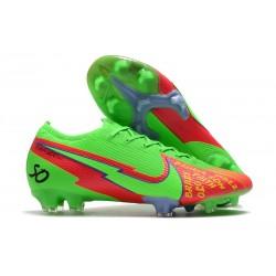 Nike Mercurial Vapor 13 Elite FG Verde Rojo
