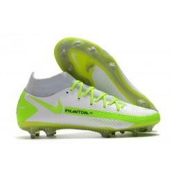 Nike Phantom GT Elite DF FG para Hombre Blanco Verde
