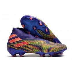 adidas Tacos de Futbol Nemeziz 19+ FG - Tinta Energia Rosa Senal Verde