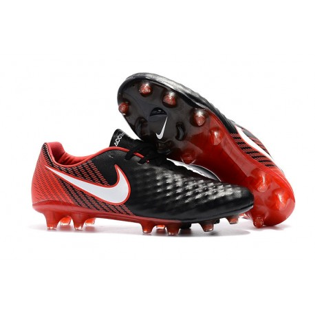 2018 Botas de fútbol Nike Magista Opus II FG - Negro Blanco Rojo 9fb79d55a8c2f