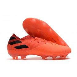 Zapatillas adidas Nemeziz 19.1 FG - Signal Coral Negro Rojo Gloria