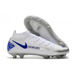 Nike Phantom GT Elite DF FG para Hombre Blanco Azul