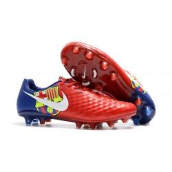 Zapatillas de fútbol Nike Magista Opus II FG - Barcelona Rojo Azul
