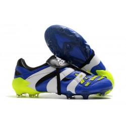 Botas de fútbol - Adidas Predator Accelerator FG Azul Blanco Amarillo