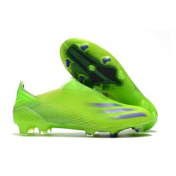 adidas X Ghosted + FG Bota Verde Tinta Energía